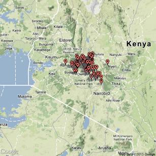 Kenya Cluster Map