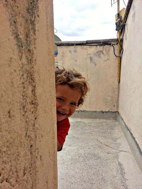 Lucas hiding
