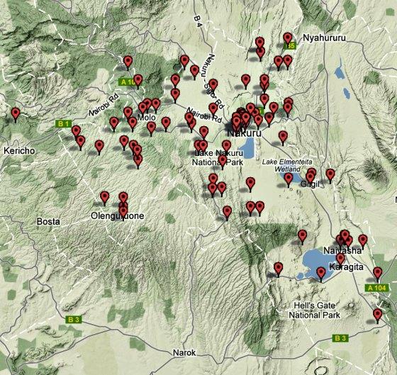 Nakuru cluster map