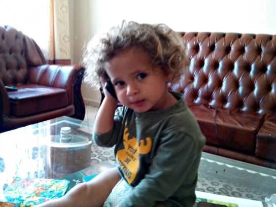 Lucas on phone 2